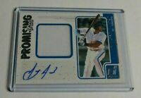ANTHONY ALFORD - 2017 PANINI DONRUSS - ROOKIE AUTOGRAPH JERSEY - BLUE JAYS -