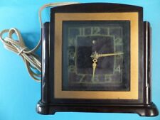 Vintage Smiths Clock Art Deco Style Fully tested and Working Brown Bakelite