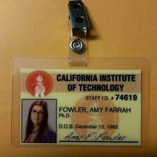 The Big Bang Theory ID Badge- Amy Farrah Fowler prop costume cosplay