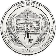 "National Park ATB Quarter UNC. Roll of 40 "" S "" Mint 2015 #26 Homestead NE"
