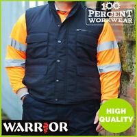 Heavy Duty Hard Wearing Mens Padded Work Bodywarmer Gilet Body Warmer Vest Warm