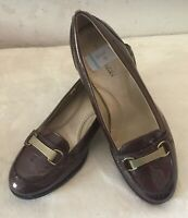 NO BOUNDARIES Shining Brown Patent Leather Loafers Women's Size 9