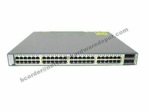 Cisco WS-C3750E-48TD-E 48-Port Gigabit Switch + 2 10GB w/ AC PWR 1 Year Warranty