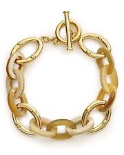 NWT LAUREN Ralph Lauren 'Shaded Links' Horn Gold-Tone Link Toggle Bracelet $58