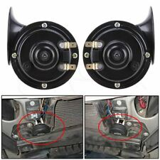 2 Pcs Black 12V Loud Car Truck 110DB Dual Tone Snail Electric Horn SUV Universal