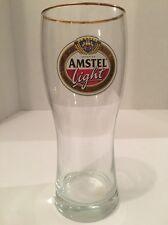 "16oz. Imported Amstel Light Beer 7"" Gold Rimmed Drinking Glass"