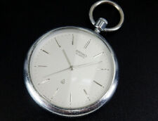 Working Seiko 1980 Nov. Vintage Quartz 40mm Pocket Watch from Japan 7121
