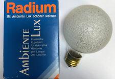 RADIUM Lámpara de globo G80 E27 230v 100w Cristal de hielo Bombilla clara NUEVO