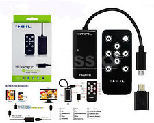 NEW MHL Micro USB to HDMI HDTV Adapter + Remote Control For Samsung Galaxy S5