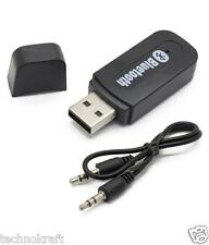 Car Bluetooth Pendrive Portable Wireless Music Receiver Adapter AUX HD Call Mic