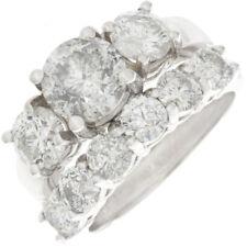 Round Cut Diamond 3.70 Carat Bridal Set Ring 18k Gold GIA Certified