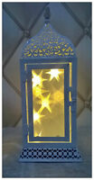 30cm White Moroccan Lantern Warm White Christmas Decoration Star 3D Hologram LED