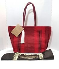 Clever Carriage Company Handcrafted Red Rainbow Ribbon Bag HandbagToye Shopper