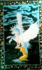 La Turchia RUG appesa sul muro (WOMAN & Unicorno) 100% cotone dimensioni: (90cmx140cm)
