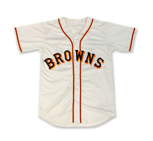 Retro Satchel Paige #29 Browns Baseball Jerseys Button Down St Louis Sewn Jersey