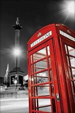 LONDON POSTER RED TELEPHONE BOX TELEFONHÄUSSCHEN