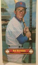 """New listing 1972 TOPPS  BASEBALL POSTER   # 22   Bud HARRLESON   New York Mets   10"""" X 18"""""""
