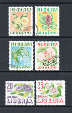 Liberia 1955 Native Flowers. Complete set of 6. CTO. One postage for all buys.