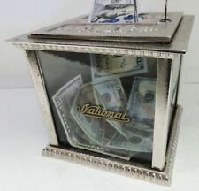 National Cash Register Receipt Ticket Box w/Key Fully Restored Nickel Plated
