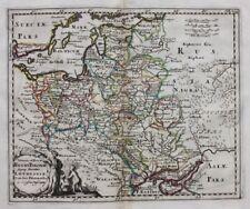Orig. antique map POLAND, ESTONIA, LITHUANIA, 'REGNI POLONIAE ...' Cluver c.1697