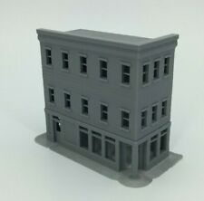 20th Century 3 Story Corner Shop Building - N Scale 1:160 - 3D PRINTED Model USA