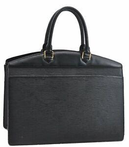 Authentic Louis Vuitton Epi Riviera Black Hand Bag M48182 LV A6982