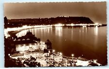*Spa and South Bay Scarborough at Night Yorkshire England Vintage Postcard C84