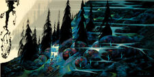 "Eyvind Earle "" BLACK SPRUCE "" Hand signed numbered Serigraph 1988"