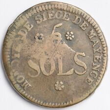 France siège de Mayence : 5 sols 1793