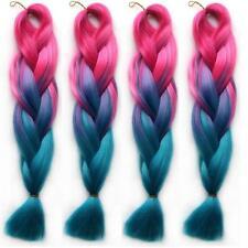 "5pcs 24"" Ombre Kanekalon Jumbo Braiding Synthetic Hair Extension Twist Braids"