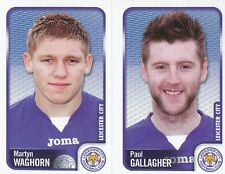 160 M. WAGHORN/P.GALLAGHER LEICESTER CITY.FC STICKER FL CHAMPIONSHIP 2010 PANINI