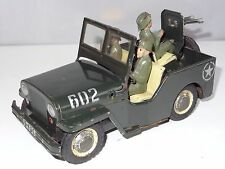 japan / portugal / germany ? TINPLATE US ARMY JEEP WITH MOTOR