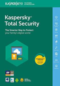 Kaspersky Total Security 2021 1PC, 2PC, 3PC, 5PC /Geräte 1Jahr, 2Jahre 2020