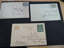 Nederland 3 uit Middelburg verzonden briefkaarten
