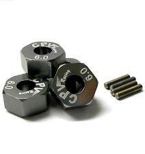 57816T 1/10 scale rc M12 12mm roue alliage adaptateurs avec pins écrou Titanium 6mm