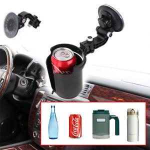 1 Pcs Black Suction Cup Type Car Adjustable Bottle Drink Holder Bracket Stand