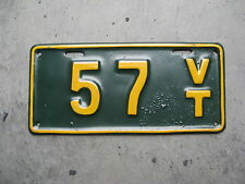 1918 18 VERMONT VT LICENSE PLATE MOTORCYCLE MC LICENSE PLATE NICE # 57 REPAINT