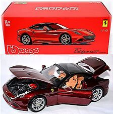 Ferrari California T CLOSED TOP 2008-15 Rojo Metal 1:18 Bburago Signature Ser
