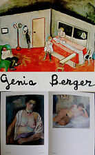 Jewish HAND SIGNED Artist ART BOOK Russian GENIA BERGER Theatre NUDE Stage OILS