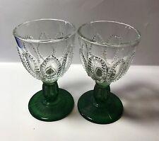 Avon Emerald Green base wine / cordial glasses - set of 2