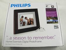 "Philips 8"" LCD  Digital Picture Frame Brown"
