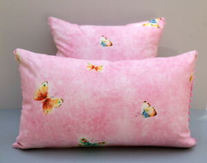 Anna French Pink Butterflies 'Flutterby' Fabric Cushion Covers 2 Sizes Available