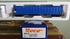 ROCO 66316 Carro telonato blu scorrevole a 4 assi tipo Rils delle ZSR