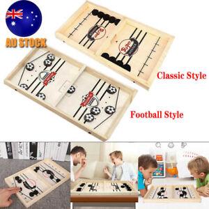 Bouncing Chess Hockey Fast Sling Puck Game Paced SlingPuck Foosball Winner Board