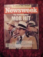 NEWSWEEK June 22 1987 UNTOUCHABLES Robert De Niro Muhammed Ali Bruno Bettelheim