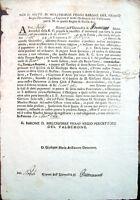 1764 PALERMO VAL DEMONE SICILIA LETTERA SU TASSE E GRANO PER TRUPPE MESSINA