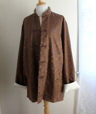 DESIGNER Chinese Asian Rich Art-Wear Damask Copper Ivory Reversible Jacket 1X 2X