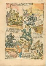 Sacs de Sable Charlemagne Henri IV Louis XIV Jeanne d'Arc Poilus  WWII 1939