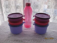 7 pack New Tupperware EXECUTIVE BOWL SET  Jars Lunch Meal  Box incl. Bottle MT