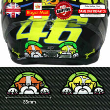 2x Valentino Rossi 46 GUIDO Dog Laminated 3M Reflective Decals Sticker 85mm F543